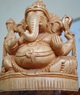 Lord ganesha carved in wood