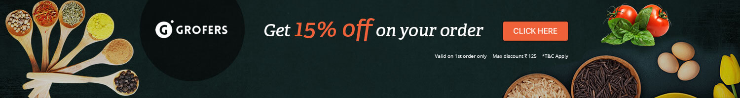 Grogers Exclusive offer Get 15% off on Your order