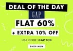NNNOW Deal Of The Day : Flat 60% OFF + Extra 10% OFF on GAP Clothing