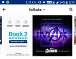 Avengers Paytm Imax Offer: 100% cashback upto Rs 400 on 2 tickets (Select users)