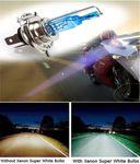 H4 XENON HALOGEN BULB 5000K Car Super White Light Bulbs 12V 35W Headlights Head Light For Two Wheelers & Cars - Pack