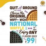 National Waffle Day at Belgian Waffle : Any waffle @₹99 (19th July)