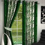 Jars Collections set Of 2 Polyester Door Curtain (Green) - Dalmia BestPrice