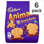 Cadbury Animal Milk Chocolate Biscuits in 6 Individually Snacks Packs (6 X 22g), 132g