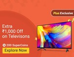 Use your Flipkart SuperCoins and Get upto 2500 off on TV, Refrigerator, Washing machine,AC + 10% extra discount on SBI Bank Cards