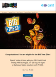 Barbeque Nation Voucher for SBI(User Specific)