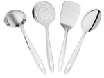 Amazon Brand - Solimo Stainless Steel Kitchen Tools Set (4 Pieces)