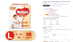 User Specific Loot @ 19 Huggies Ultra Soft Pants Diapers, Large (Pack of 18)