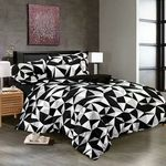 Carnation Black and White Cotton Double Bedsheet @ just Rs. 719 | Use Code: OFFER20 - Dalmia BestPrice