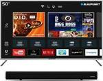 BLAUPUNKT 127CM (50 INCH) FULL HD LED SMART TV WITH EXTERNAL SOUNDBAR (BLA50AS570) @ ₹23499 AFTER 10% INSTANT DISCOUNT ON ICICI BANK CREDIT AND DEBIT CARDS