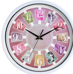 Efinito 11 Inch Vintage Look Wall Clock with Glass for Home/Kitchen/Office/Bedroom