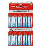 Cello Geltech Quickdry Gel Pen - Pack of 50 (Blue)