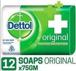Dettol Original Soap - 75 g (Pack of 12)[User Specific]
