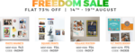 Zoomin freedom sale : Flat 73% off on prints