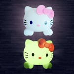(Zing of the Day) Hello Kitty night Lamp with White LED Light  (Assorted colors)