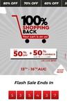 Brandfactory 100% sale stars