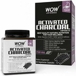 WOW Activated Charcoal 250mg - 60 Vegetarian Capsules @149