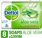 Dettol -- Soap 100g (Pack of 8) for Rs.240[MRP Rs.352]Click Apply 15% Off Coupon