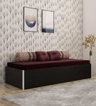 Kosmo Single Bed with Storage in Black Colour by Spacewood 34% Off