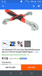 JK Universal 9-32 mm Grip Steel Multipurpose set of 2 9-32mm Double Sided Adjustable Wrench Double Sided Adjustable Wrench Set