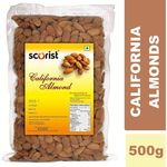 Scorist California Almonds 500g (Pack of 2) @ Rs 639 (Total 1Kg)| FREE Shipping | Flat 20% OFF