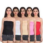 Multicolor Cotton Spaghetti Tube Top Pack of 5 @ Rs. 375    Flat 50% OFF + FREE SHIPPING