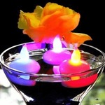 Mutli-Colored Water Proof and Fire Less Floating Candle LED Tea Light(Pack Of 12) Rs.489
