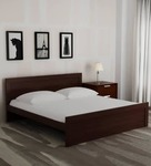 Flat 63% Off On Dazzle Queen Size Bed in Walnut Finish by HomeTown
