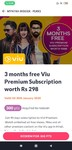 3 months free Viu Premium Subscription worth Rs. 298 with 300 points on Myntra