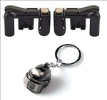 Trajectory PUBG Gaming Combo Level 3 Helmet Keychain and 2 Triggers Free shipping