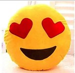 """Home Collectives Supersoft Emoji Cushion Pillow Set of 1-13"""" x 13"""""""