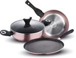 Wellberg Aluminium 4-Pcs Metallica Induction Bottom Cookware Set