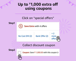 Upcoming||Upto 1000 extra off using coupons on Electronics,Mattress,bed,sofa