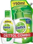 Dettol Original Liquid Hand Wash Refill with Instant Sanitizer  (2 Items in the set) (supermarket)