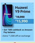 Huawei Y9 Prime 2019 + 10% Off on SBI debit card