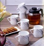 78% Off : Sanjeev Kapoor Slate Ceramic Coffee Mug Set, 6-Pieces, Multicolour (SK-cm-Imperial-Slate) at Rs.548