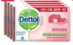 (Apply 15% Coupon) Dettol Skincare Soap, 125g (Pack Of 4)
