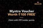Redeem Myntra ₹200/- voucher with 599/- insider points