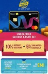10% Instant Discount + 5% Unlimited Cashback on Flipkart Axis Credit card during BBD