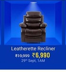Flipkart Perfect Homes Costello Leatherette Manual Recliners