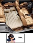 Car Travel Inflatable Car Bed Mattress with Two Air Pillows, Car Air Pump and Repair Kit