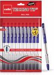 Cello Technotip Ball Pen Set - Pack of 10 (Blue) @ ₹66Apply 5% Coupon