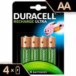 Duracell Ultra Rechargable AA 2500 mah pack of 4 batteries at 800