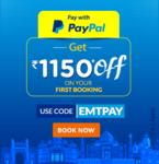 Easemytrip : Save Rs.1150 on Flight booking through PayPal (Min. 2500)