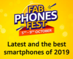 Amazon Fab Phone festival 5-9 October (10% off with HDFC, BOB, YES bank cards)