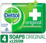 Dettol Original Soap, 125g (Pack Of 4