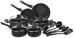 AmazonBasics 15-Piece Non-Stick Cookware Set (HDFC 10% Cashback Offer available)
