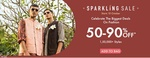 Ajio Sparkling Sale From 10th Oct :- 50-90% off on 1,50,000+ Styles