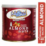 Nutty World Roasted & Salted Almond, 140 Gm Apply 15 % coupon