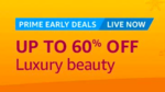 500 cashback on min order of 2000 of Luxury Beauty products | 12PM-12AM 12 Oct